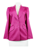 Escada Fuchsia Blazer Front - eKlozet Luxury Consignment Boutique