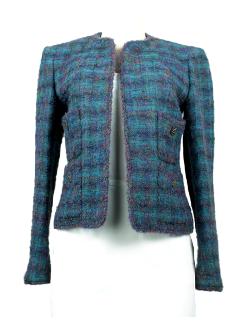 Vintage Fall 97 Chanel Boucle Blazer Front - eKlozet Luxury Consignment Boutique