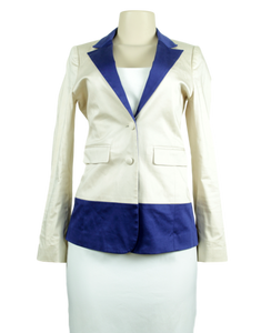 ANNIE GRIFFIN Color Block Blazer
