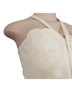 CHANEL LAMBSKIN LEATHER HEART 'CC' TOP
