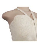 CHANEL LAMBSKIN LEATHER HEART 'CC' TOP - eKlozet Luxury Consignment
