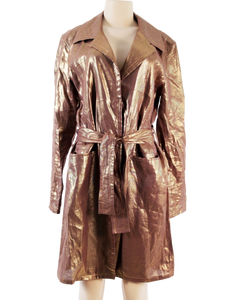 CHRISTIAN DIOR METALLIC LINEN TRENCH COAT