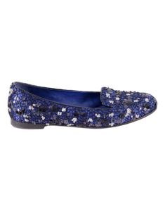 CHRISTIAN DIOR SATIN EMBELLISHED LOAFERS - eKlozet Luxury Consignment