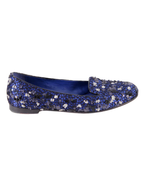 CHRISTIAN DIOR SATIN EMBELLISHED LOAFERS