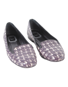 CHRISTIAN DIOR SNAKESKIN HOUNDSTOOTH LOAFERS