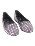 CHRISTIAN DIOR Snakeskin Houndstooth Loafers - eKlozet Luxury Consignment