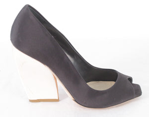 CHRISTIAN DIOR ECLIPSE PEEP-TOE PUMPS