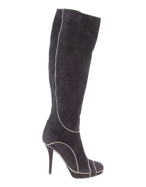 CHRISTIAN DIOR SUEDE OVER-THE-KNEE BOOTS - eKlozet Luxury Consignment