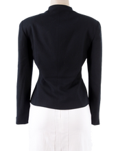 CHRISTIAN DIOR WOOL STRUCTURED EVENING BLAZER