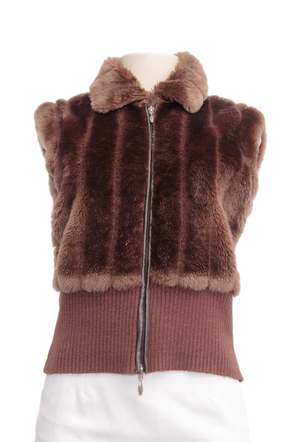 Essentials By Milano Faux Fur Vest