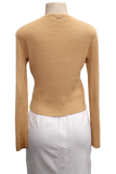 St. John Sport V-Neck Ribbed Knit Sweater - eKlozet Luxury Consignment