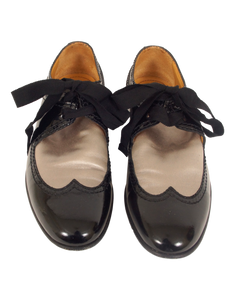 LANVIN PATENT LEATHER ROUND-TOE OXFORDS