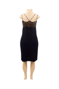 ST. JOHN RIB KNIT COCKTAIL DRESS
