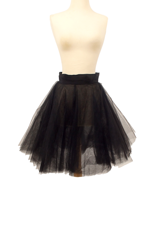 FENDI SHEER TULLE A-LINE SKIRT
