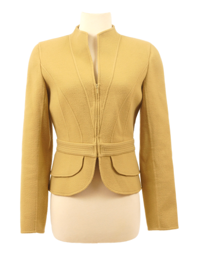 VALENTINO COLLARLESS WOOL BLAZER