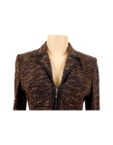 ST. JOHN KNIT TWEED SUIT WITH LEATHER TRIM - eKlozet Luxury Consignment