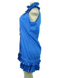 CHRISTIAN CALIENDO Ruffle Sleeveless Mini Dress - eKlozet Luxury Consignment