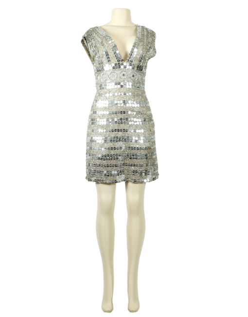 SCALA COUTURE Sequin Double V Cocktail Dress w/ Tags - eKlozet Luxury Consignment