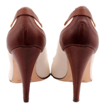 ETRO CREAM AND LEATHER PUMP