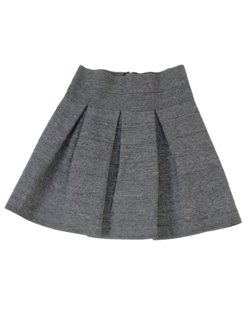 Structured A-Line Mini Skirt