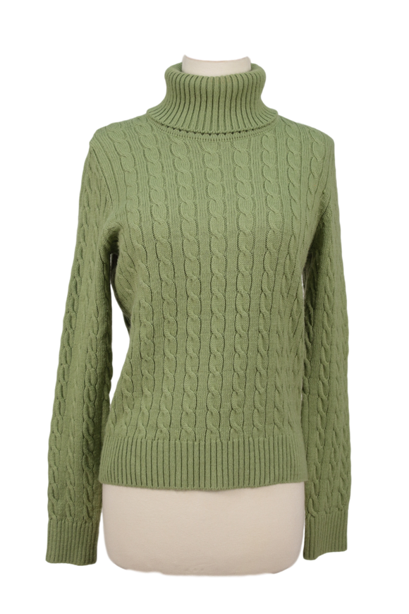 MODA INTERNATIONAL CABLEKNIT TURTLENECK SWEATER - eKlozet Luxury Consignment