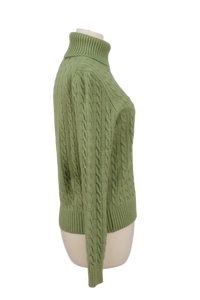 MODA INTERNATIONAL CABLEKNIT TURTLENECK SWEATER