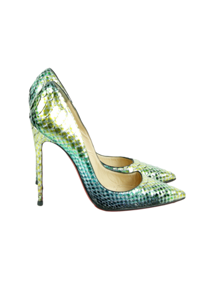 Christian Louboutin So Kate 120 Python Pumps - eKlozet Luxury Consignment