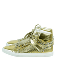 ALESSANDRO DELL'ACQUA Metallic High-Top Stud Sneaker - eKlozet Luxury Consignment