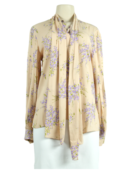 Michael Kors Floral Long-Sleeve Blouse - eKlozet Luxury Consignment