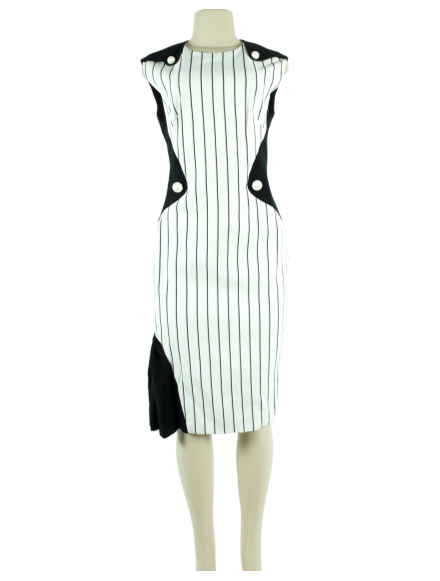 Mugler Abstract Sleeveless Dress - eKlozet Luxury Consignment
