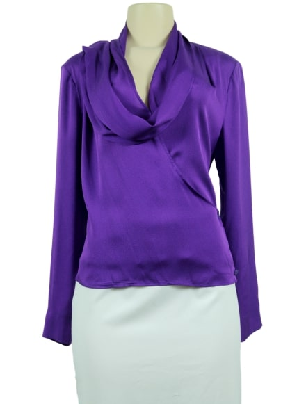 ESCADA Wrap-Around Blouse-Front- eKlozet Luxury Consignment