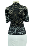 L'Agence Lace Pullover V-Neck Top w/ Tags - eKlozet Luxury Consignment