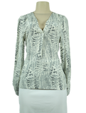 Joie Abstract Print Long Sleeve Top - eKlozet Luxury Consignment