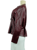 LAFAYETTE 148 New York Lasercut Leather Jacket - eKlozet Luxury Consignment