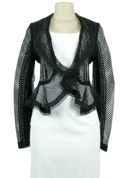 ELIE SAAB Macrame Tuxedo Jacket w/ Tags - eKlozet Luxury Consignment