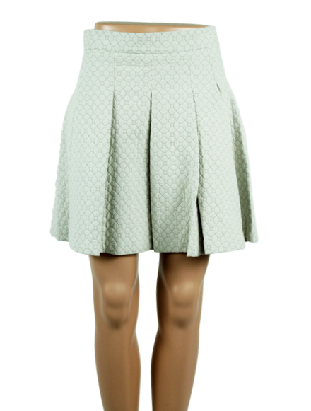 DEREK LAM 10 CROSBY Pleated A-Line Mini Skirt