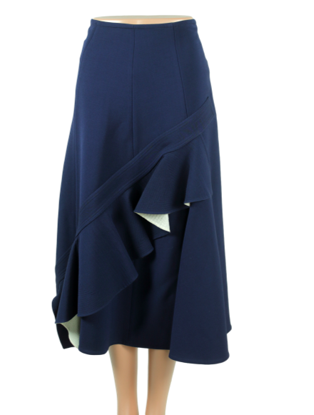 CELINE Ruffle-Trimmed Midi Skirt w/ Tags - eKlozet Luxury Consignment