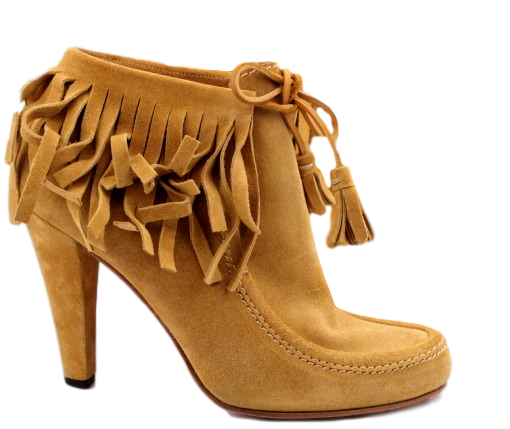 GUCCI 'SOFTY TEK' FRINGE BOOTIES