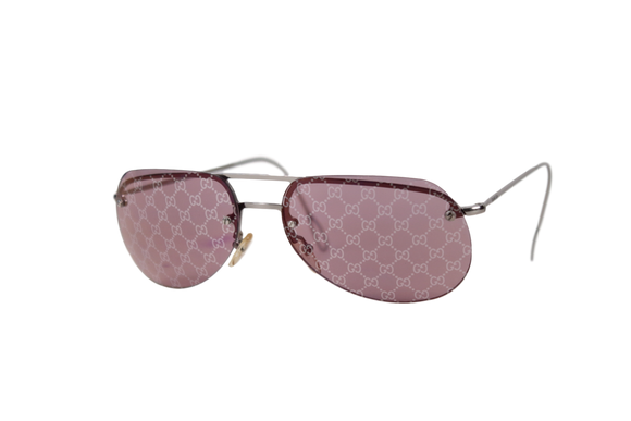 Vintage Gucci 'GG' Monogram Lens Sunglasses - eKlozet Luxury Consignment