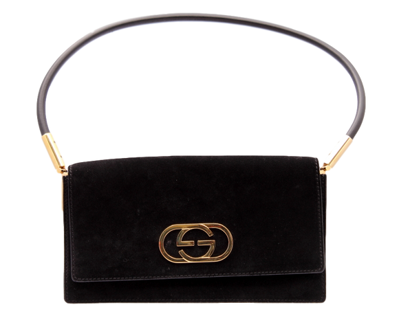 1970's VINTAGE GUCCI SUEDE EVENING BAG - eKlozet Luxury Consignment