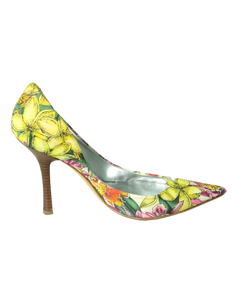 Guess by Marciano Floral Pumps  Side- eKlozet Luxury Consignment