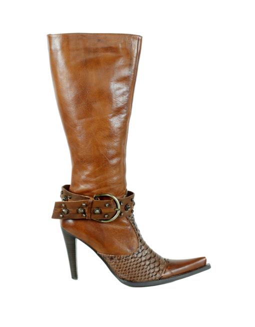 Dollhouse Snakeskin Knee Length Boots - eKlozet Luxury Consignment