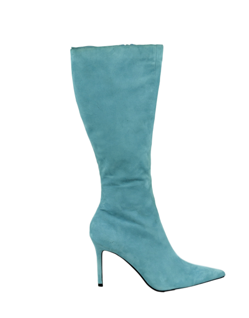 COLIN STUART Knee-Length Suede Boots