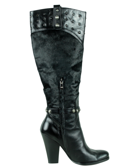 HOUSE OF DERÉON Leather and Fur Boots