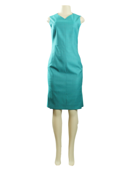 BOSS BY HUGO BOSS Virgin Wool Knee-Length Dress w/ Tags Front - eKlozet Luxury Consignment