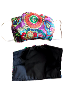 100 % Sustainable Cotton Face Mask w/ Cloth Filter - Abstract Print - eKlozet Luxury Consignment