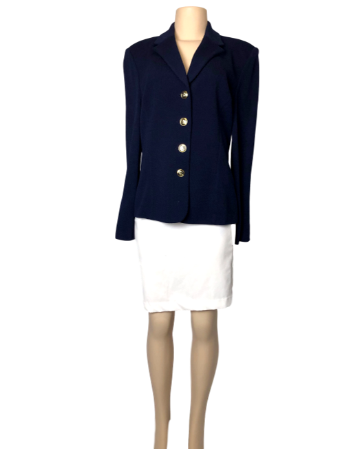 St. John Basics Structured Jacket - eKlozet Luxury Consignment