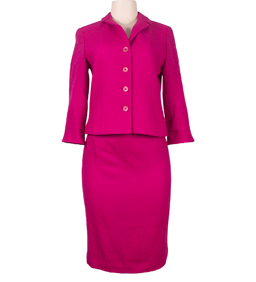 RICKIE FREEMAN FOR TERI JON WOOL PENCIL SKIRT SUIT