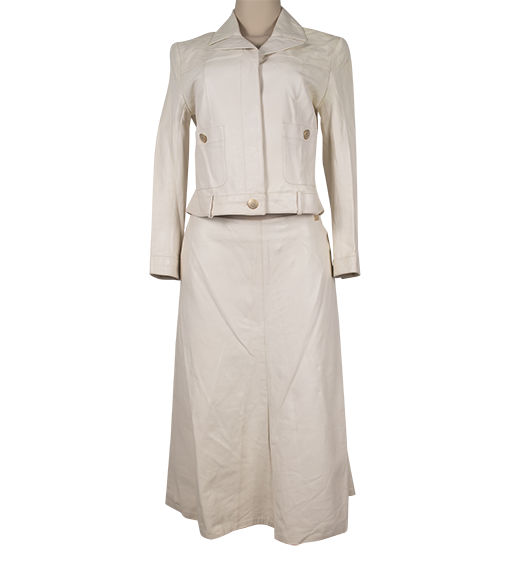 CHANEL LEATHER SKIRT SUIT - eKlozet Luxury Consignment