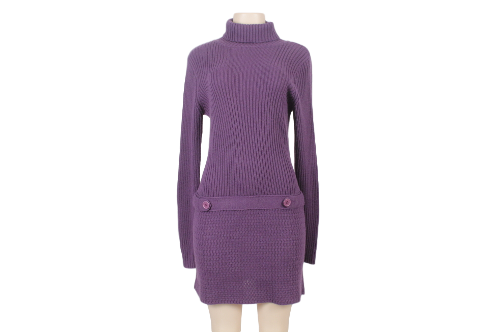CALVIN KLEIN TURTLENECK MIDI SWEATER DRESS
